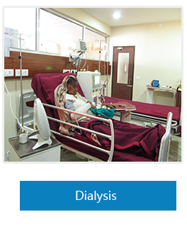 Patient in Dialysis unit