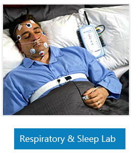 Patient in Respiratory & Speech Lab